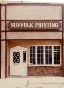 Suffolk Printing's old storefront